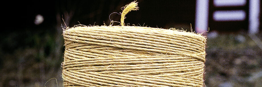 A roll of natural twine.