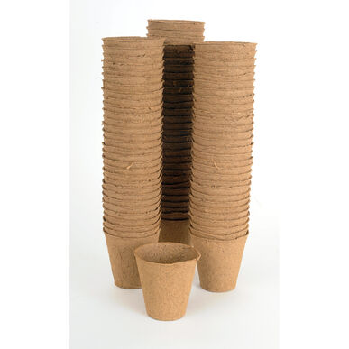 "3 1/8"" Round Fertil Pots – 90 Count Biodegradable Pots"