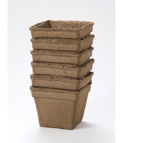 "6"" Square CowPots™ – 6 Count Biodegradable Pots"