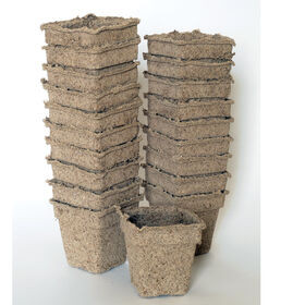 "3"" Square CowPots™ – 20 Count Biodegradable Pots"