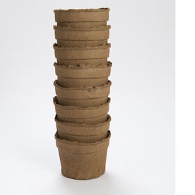 "6"" Round CowPots™ – 8 Count Biodegradable Pots"