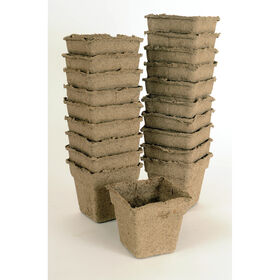 "4"" Square CowPots™ – 20 Count Biodegradable Pots"