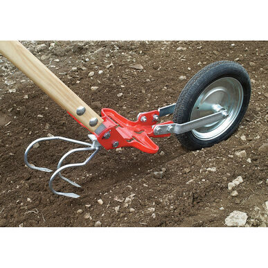 3-Tine Cultivator Attachment Glaser Wheel Hoe and Attachments