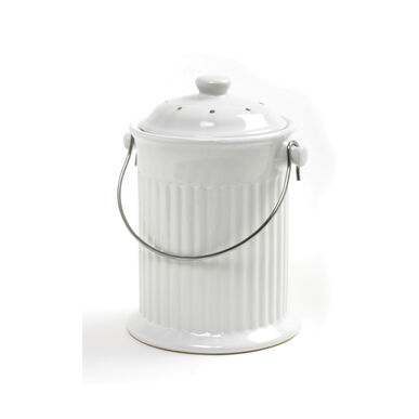 Ceramic White – 4 Qt. Compost Bins & Accessories