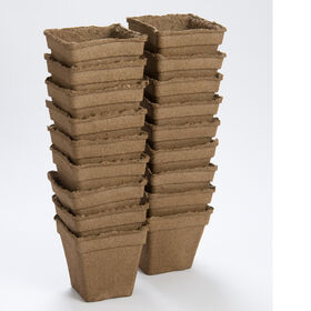"5"" Square CowPots™ – 18 Count Biodegradable Pots"