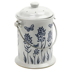Ceramic Floral – 3 Qt. Compost Bins & Accessories