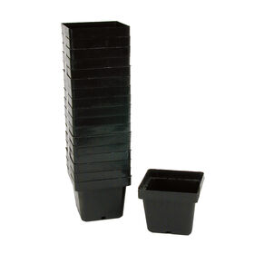 Mini Square Plastic Pots – 18 Count Containers