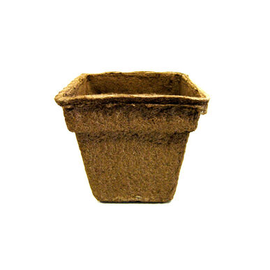 "7"" Square CowPots™ – 6 Count Biodegradable Pots"