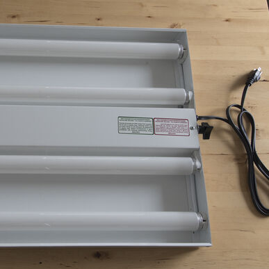 Four-Bulb Replacement Fixture Grow Lights and Carts