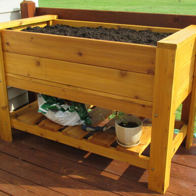 Elevated Cedar Planter Raised Beds & Planters