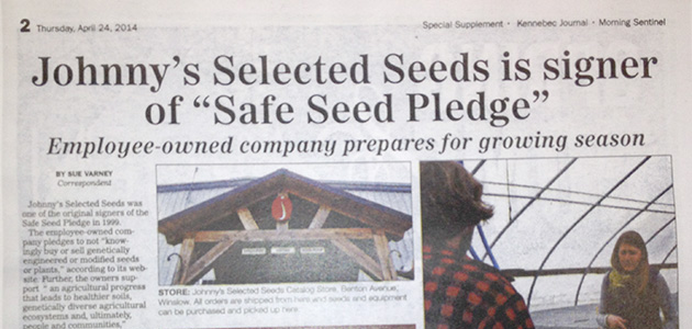 In the News with Johnny's Selected Seeds