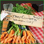 Crazy Carrots make friends at Portland Farmers' Market