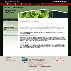 UMASS Amherst, for instance, offers IPM information online.