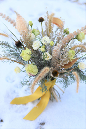 Winter bouquet by Dandelion Floral in Wyoming