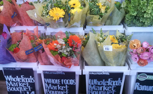 Flowers are being sourced more locally at Whole Foods