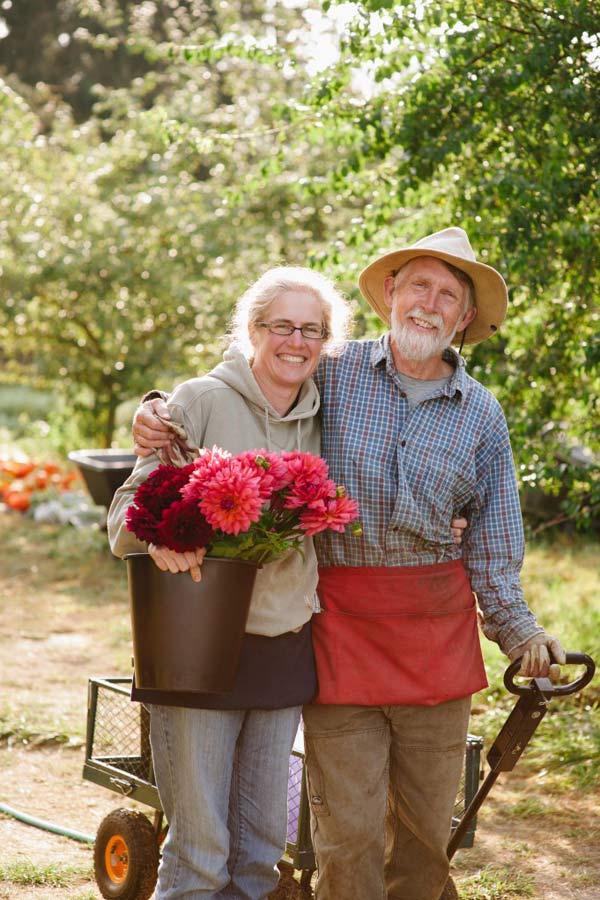 Diane Szukovathy & Dennis Westphall of Jello Mold Farm, Mount Vernon, Washington
