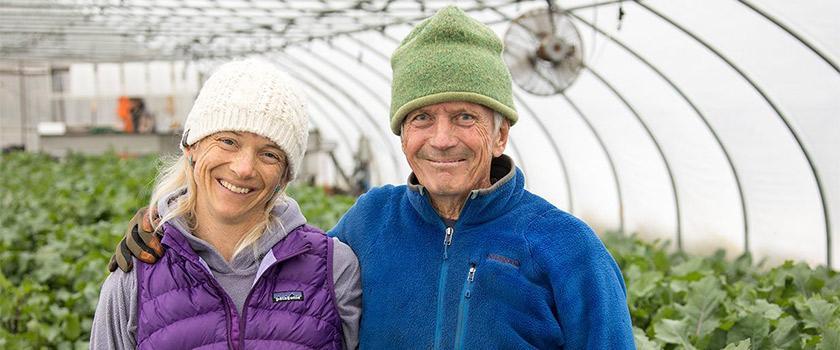 Eliot Coleman & Daughter and Farm Manager Clara Coleman of Four Season Farm
