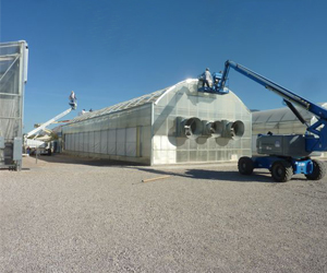 Large CEAC Greenhouse undergoing maintenance