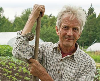 Organic farming pioneer Eliot Coleman.