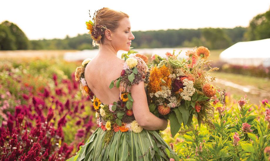Flower Goddess - Gown by Rayne Grace Hoke for American Flowers Week