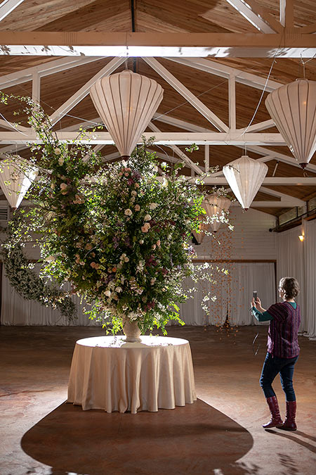 Foam-free installation at the 2017 Whidbey Flower Workshop