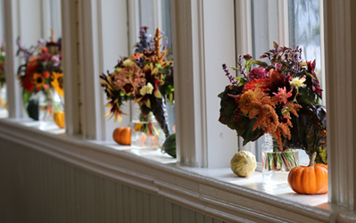 Broom Corn & Amaranth in Fall Arrangements