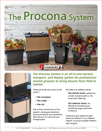 The Procona System: Ideal for Harvesting & Postharvest Handling of Cut Flowers & Greens