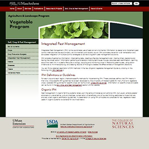 UMASS Amherst, for instance, offers IPM information online.