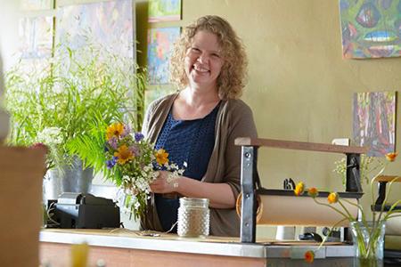 Christine Hoffman, owner of Twin Cities Flower Exchange