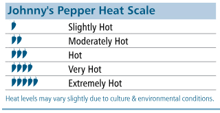 Johnny's Pepper Heat Scale: 1-5 icons