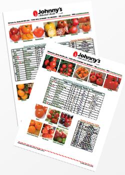 Johnny's Tomato Comparison Charts