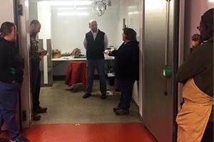 Food safety expert visits Unity Food Hub