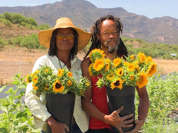 Aishah and Sebastian Lurry of Patagonia Flower Farm