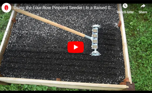 4-Row Pinpoint Seeder in a Raised Bed